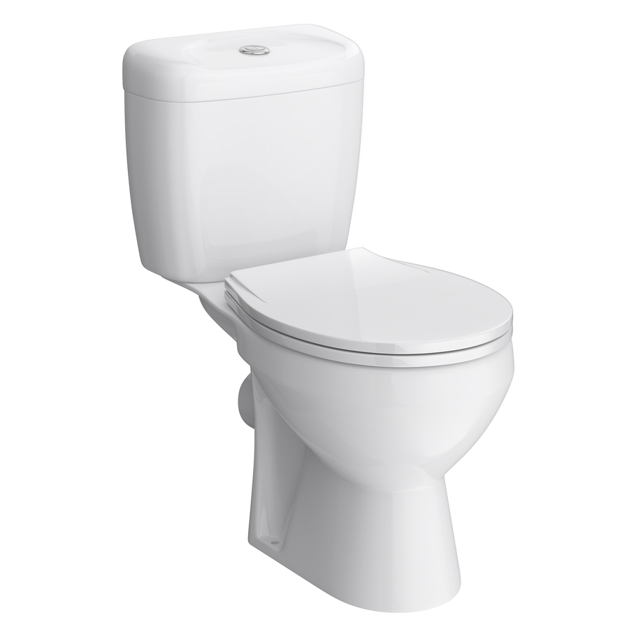 Melbourne Ceramic Close Coupled Modern Toilet Large Image