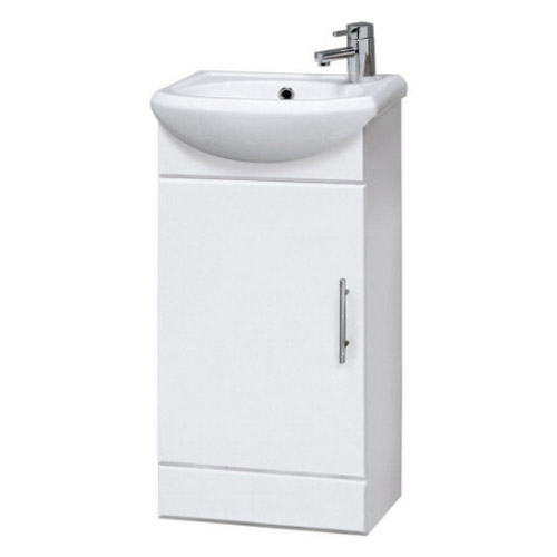 Melbourne Close Coupled Toilet with 420mm Cabinet and Basin Set Profile Large Image