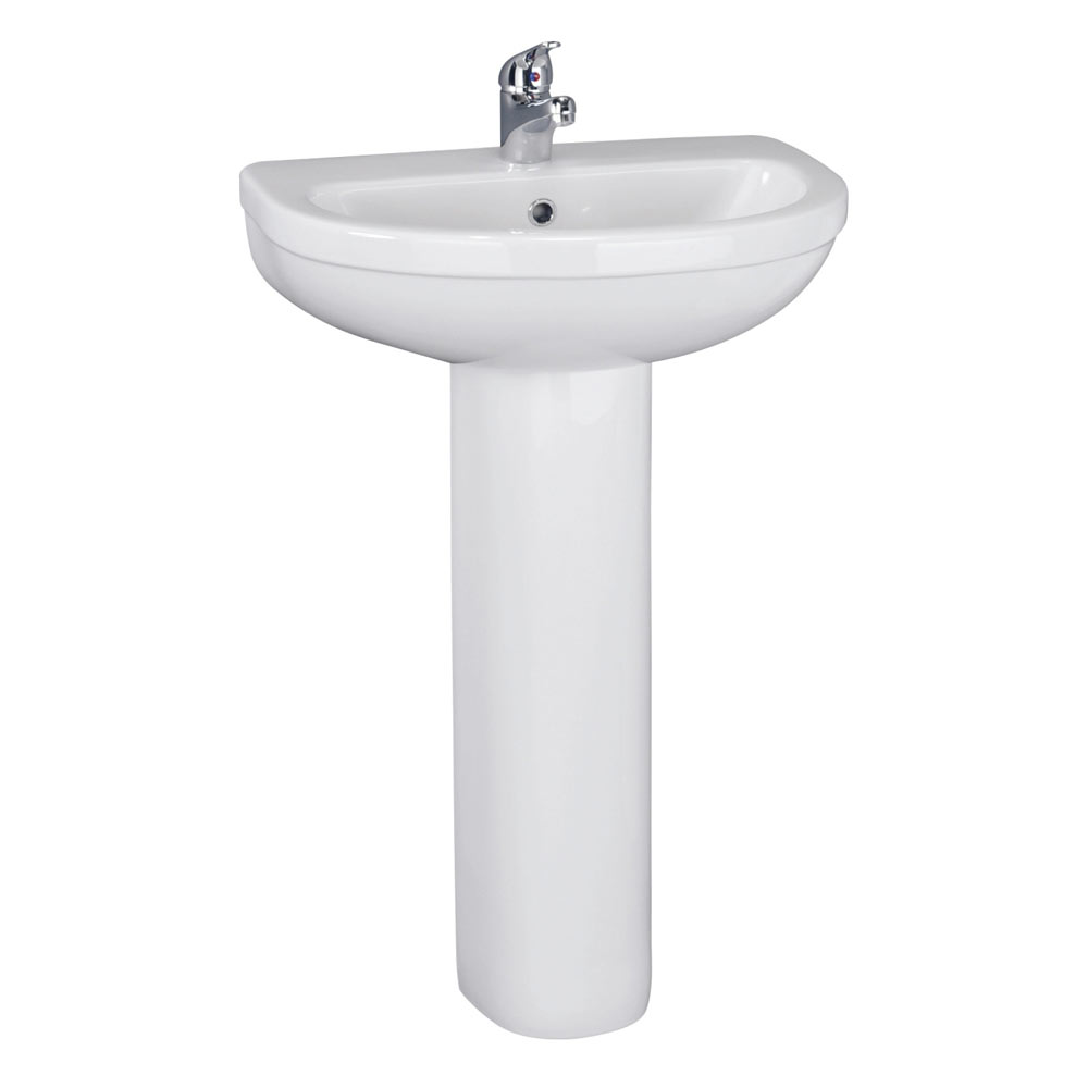 Melbourne 1 Tap Hole Ceramic Basin And Pedestal At