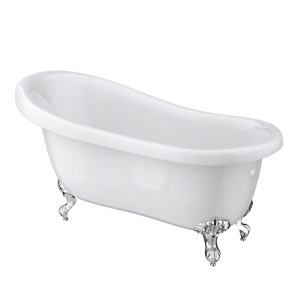 Melbourne Traditional Roll Top Slipper Bath Suite (1550mm) profile large image view 2