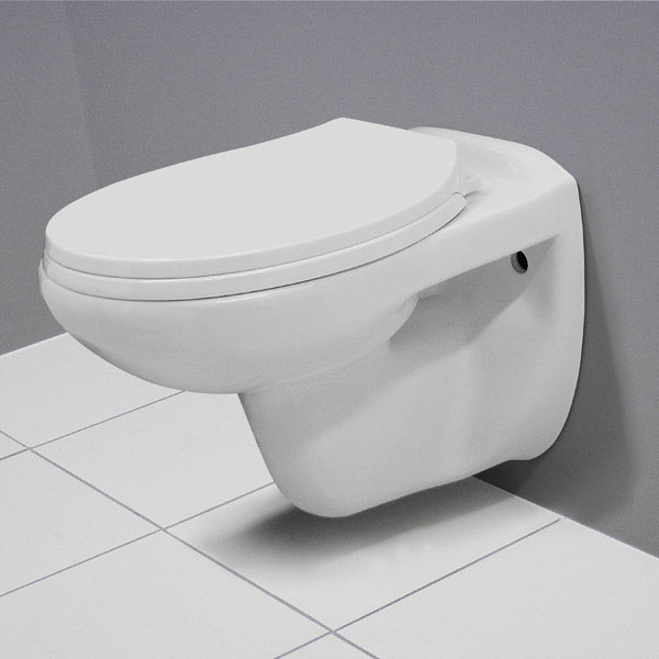 Melbourne Wall Hung Toilet + Soft Close Toilet Seat profile large image view 4