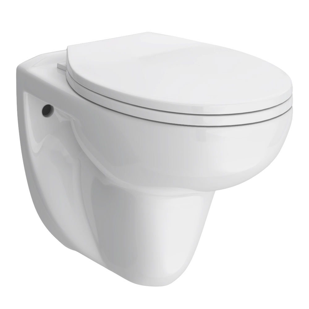 Melbourne Wall Hung Toilet + Soft Close Toilet Seat profile large image view 1