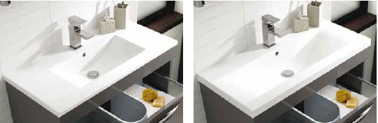 Gloss Grey Mid-Edged and Minimalist Basins