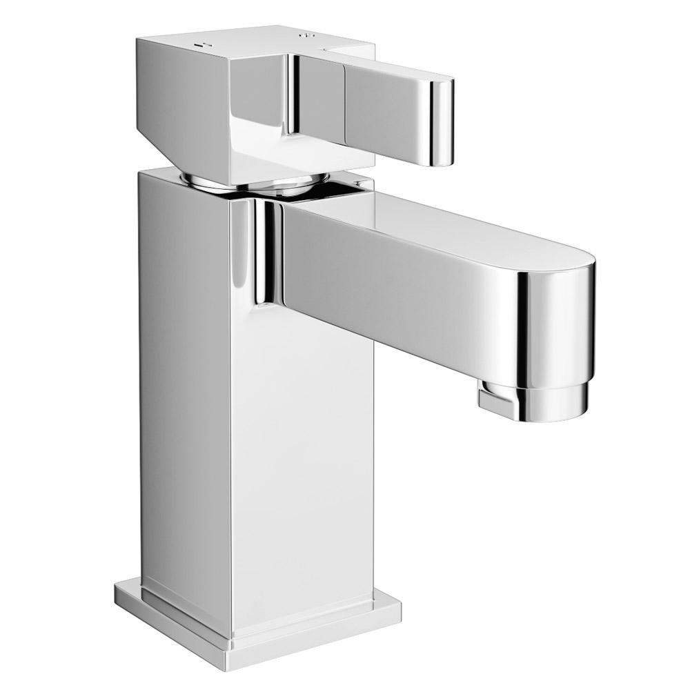 Memphis Mono Basin Mixer Tap with Click Clack Waste Large Image