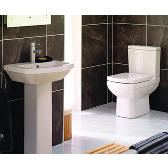 Mere - Amor Bathroom Suite - Short Projection WC and 1TH Washbasin Standard Large Image