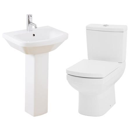 Mere - Amor Bathroom Suite - Short Projection WC and 1TH Washbasin
