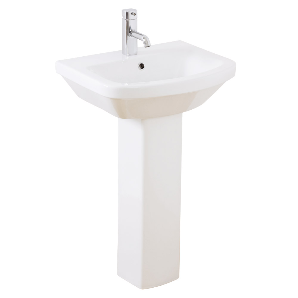Mere - Amor Washbasin 1TH with full pedestal Large Image