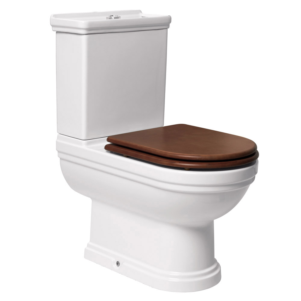 Mere - Aristo Bathroom Suite with Walnut Soft Close Seat profile large image view 3