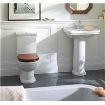 Mere - Aristo Bathroom Suite with Walnut Soft Close Seat Medium Image