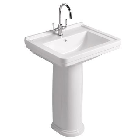 Mere - Aristo Traditional 60cm Washbasin 1TH with full pedestal