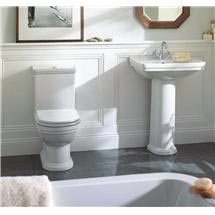 Mere - Aristo Bathroom Suite with White Soft Close Seat Medium Image