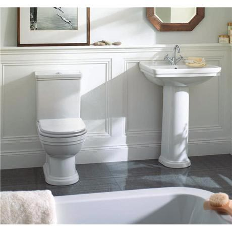 Mere   Aristo Bathroom Suite With White Soft Close Seat