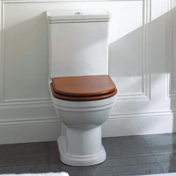 Mere - Aristo Traditional Toilet with Walnut Seat profile large image view 3