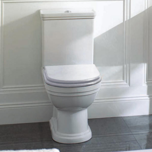 Mere - Aristo Traditional Toilet with White Seat profile large image view 3