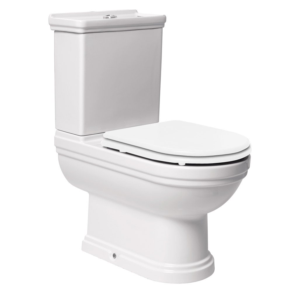 Mere - Aristo Traditional Toilet with White Seat profile large image view 1