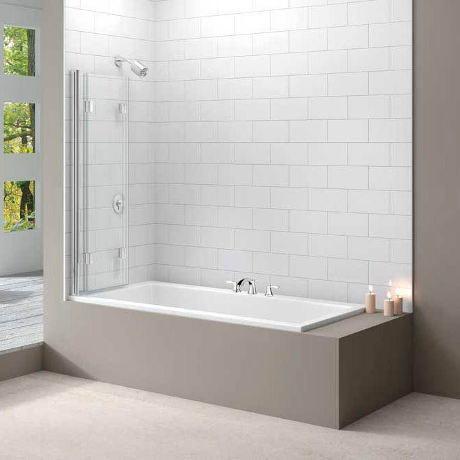 Merlyn Three Panel Folding Bath Screen (1400 x 1500mm)  Profile Large Image