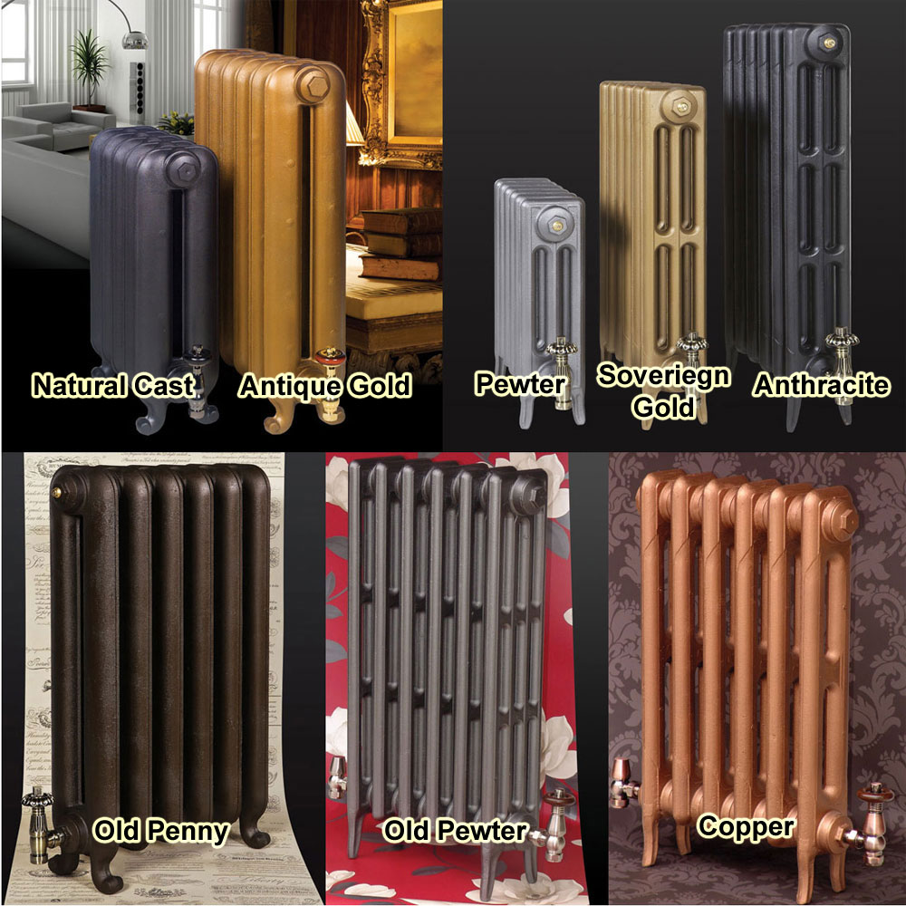 Paladin Piccadilly Cast Iron Radiator (660mm High) profile large image view 2
