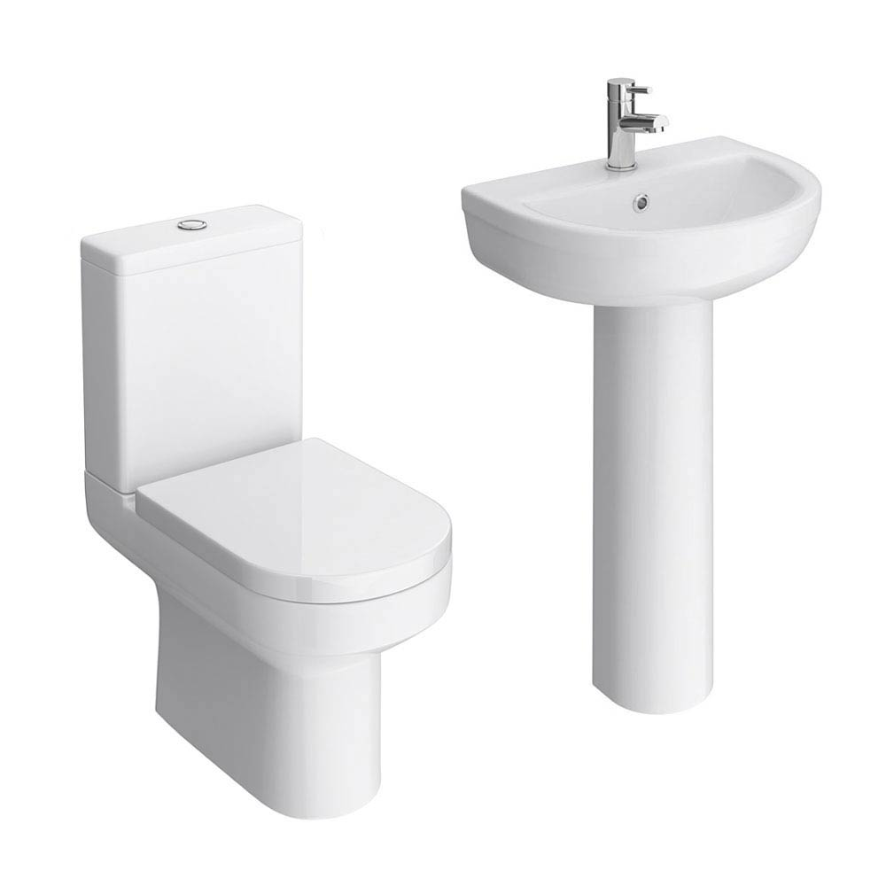 Metro 4-Piece Modern Bathroom Suite profile large image view 3