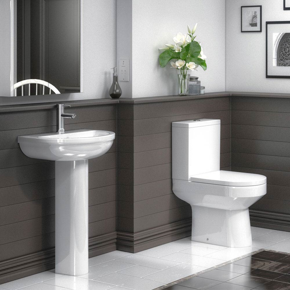 Metro 4-Piece Modern Bathroom Suite profile large image view 1