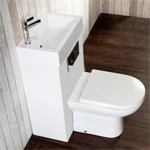 Metro Combined Two-In-One Wash Basin & Toilet (500mm wide x 300mm) Medium Image