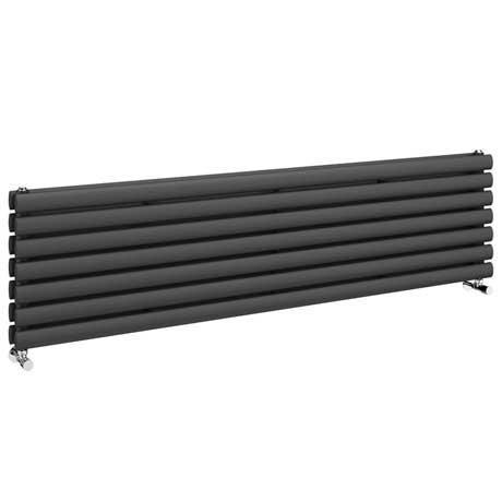 Metro Horizontal Radiator - Anthracite - Double Panel (1600mm Wide)