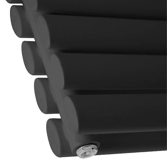 Metro Horizontal Radiator - Anthracite - Double Panel (1600mm Wide) profile large image view 2