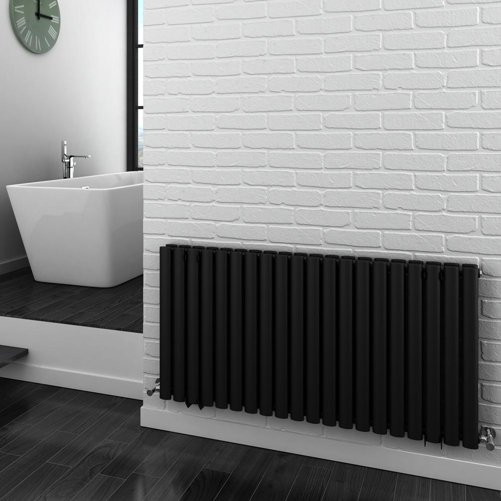 Metro Horizontal Radiator - Anthracite - Double Panel (600mm High) profile large image view 3