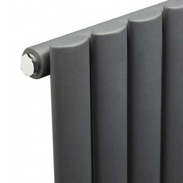 Metro Horizontal Radiator - Anthracite - Single Panel (600mm High) Profile Large Image