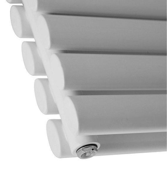 Metro Horizontal Radiator - White - Double Panel (1600mm Wide) profile large image view 2