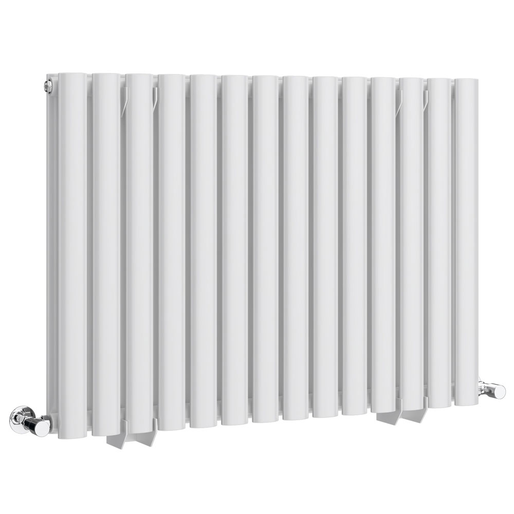 Metro Horizontal Radiator - White - Double Panel (600mm High) Large Image