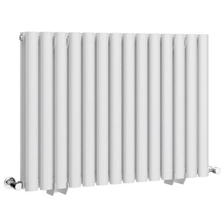 Metro Horizontal Radiator - White - Double Panel (600mm High)