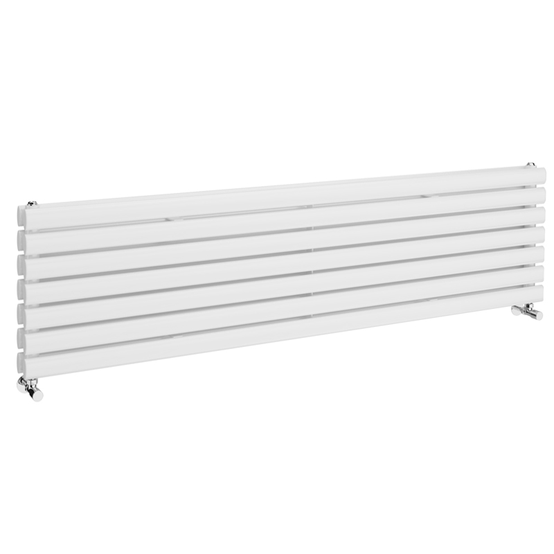Metro Horizontal Radiator - White - Double Panel (1600mm Wide)