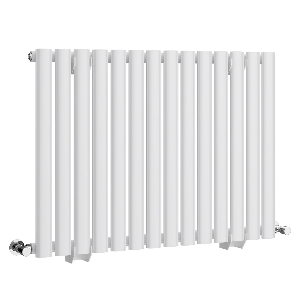 Metro Horizontal Radiator - White - Single Panel (600mm High) Large Image
