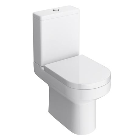 Metro Close Coupled Modern Toilet with Soft Close Seat