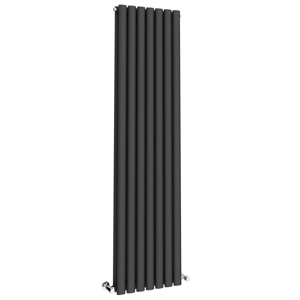 Metro Vertical Radiator - Anthracite - Double Panel (1600mm High) Large Image
