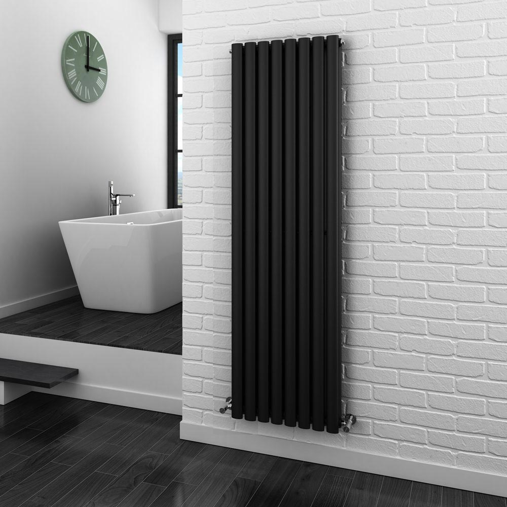 Metro Vertical Radiator - Anthracite - Double Panel (1800mm High) profile large image view 3