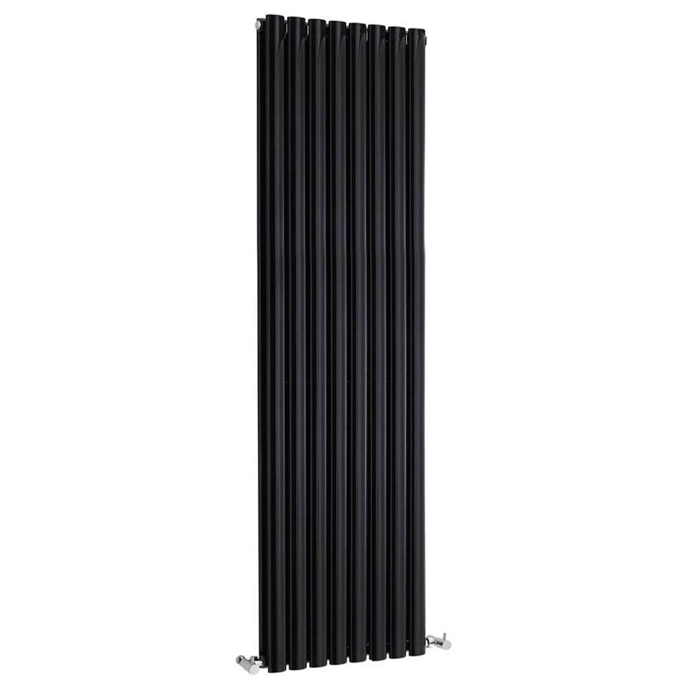 Metro Vertical Radiator - Gloss Black - Double Panel (1800mm High) Large Image