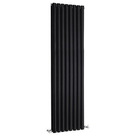 Metro Vertical Radiator - Gloss Black - Double Panel (1800mm High)
