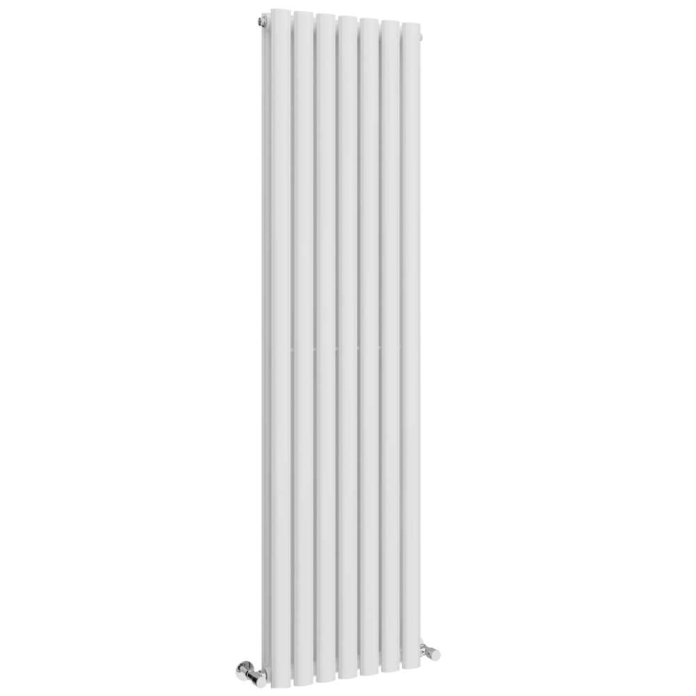 Metro Vertical Radiator - White - Double Panel (1600mm High) Large Image
