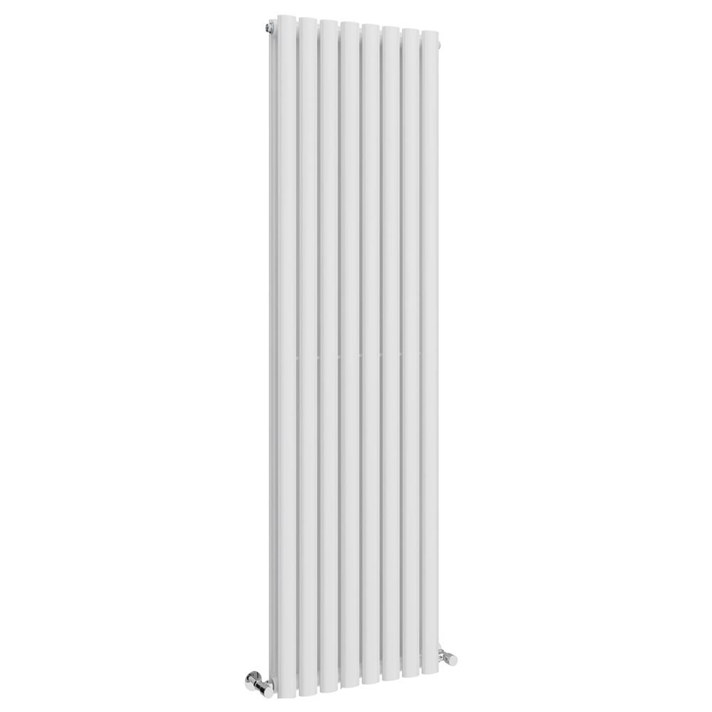 Metro Vertical Radiator - White - Double Panel (1800mm High) Large Image