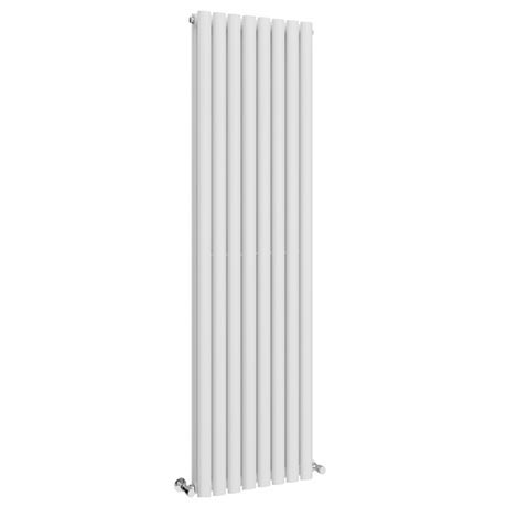 Metro Vertical Radiator - White - Double Panel (1800mm High)