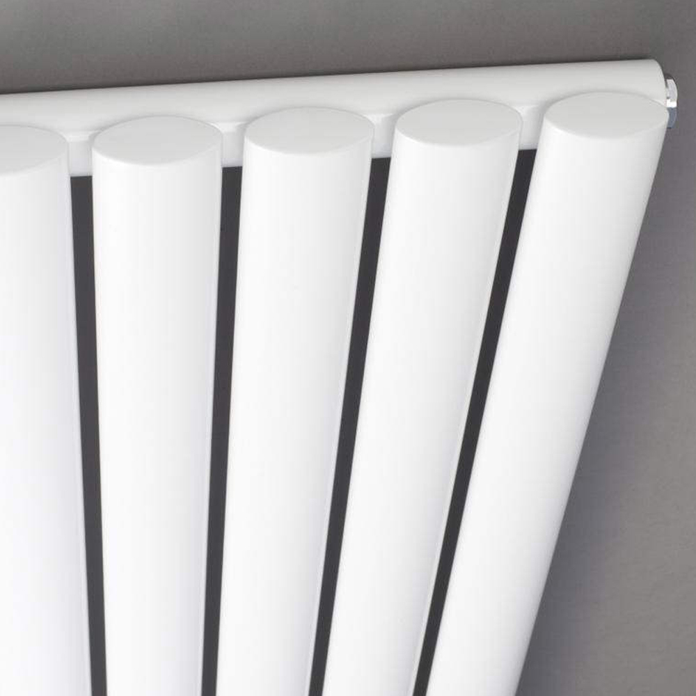 Metro Vertical Radiator - White - Single Panel (1600mm High) profile large image view 2