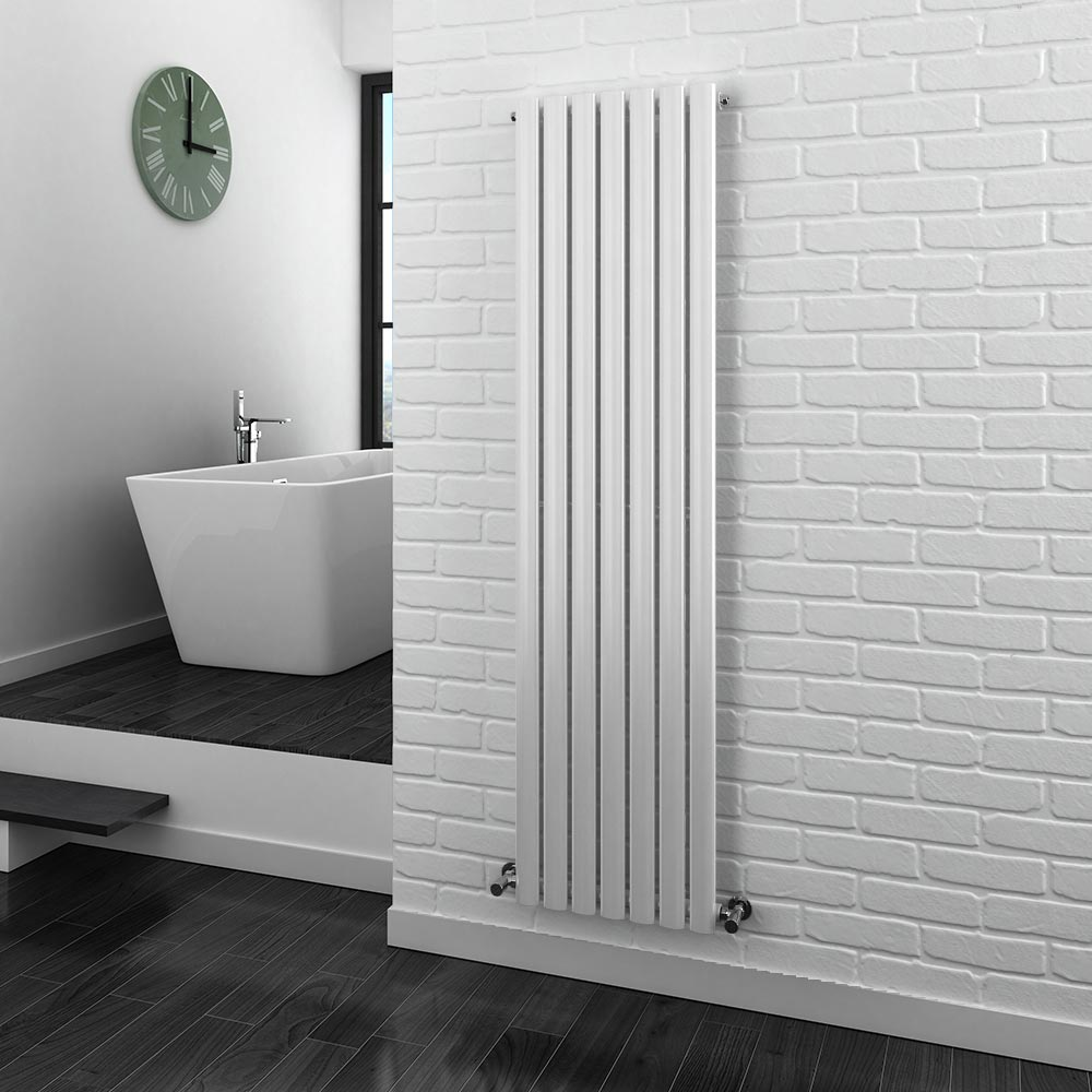 Metro Vertical Radiator - White - Single Panel (1600mm High) Feature Large Image