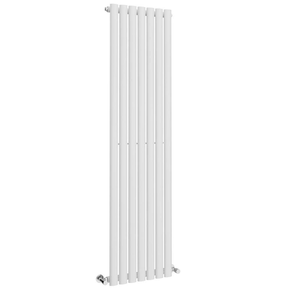 Metro Vertical Radiator - White - Single Panel (1600mm High) Large Image