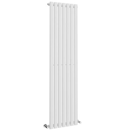 Metro Vertical Radiator - White - Single Panel (1600mm High)