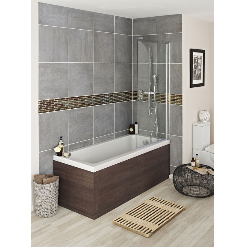 Hudson Reed Mid Sawn Oak Front Bath Panel profile large image view 2