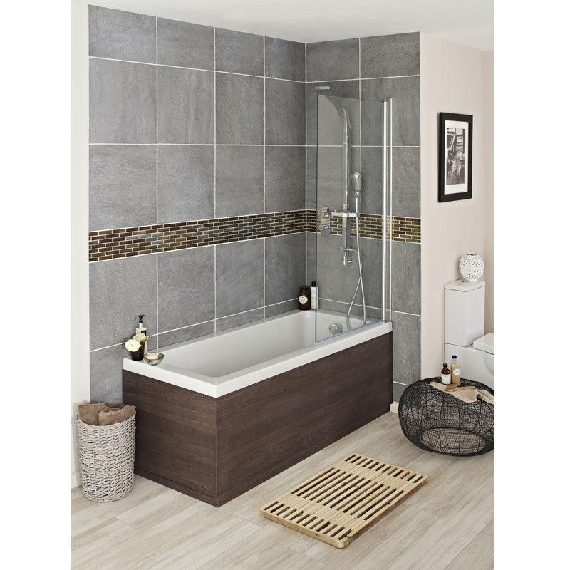 Hudson Reed Mid Sawn Oak Front Bath Panel Profile Large Image