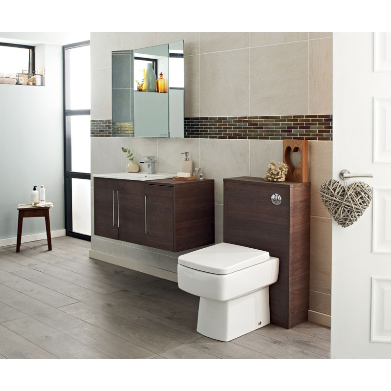 Hudson Reed - Horizon 600mm 1 Drawer Basin and Cabinet - Mid Sawn Oak - FHZ006 profile large image view 3