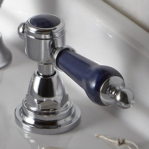 Heritage Glastonbury Midnight Blue Bath Shower Mixer - TGRBL02 profile large image view 2
