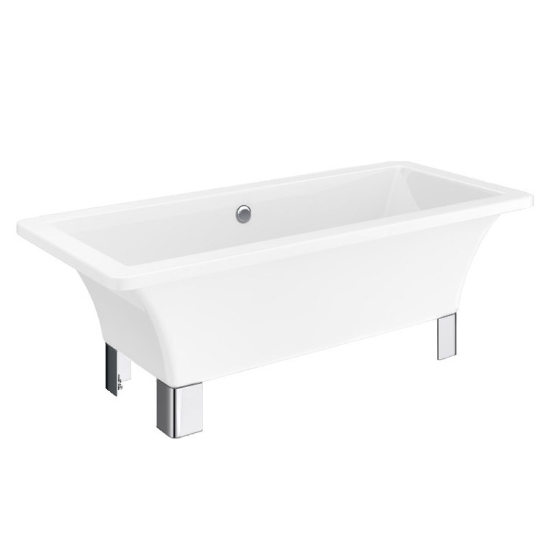 Milan 1520 modern square roll top bath victorian for Square baths